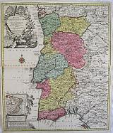 The Kingdom Of Portugal and the Algaeve, with the adjacent Spanish Provinces ... with a small map of Brazil.