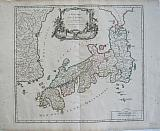 The Empire of Japan divided into seven provinces and subdivided into sixty-six kingdoms.